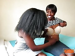 2 Torrid African Lesbians Cuddle plus At a loss for words Nigh Nook