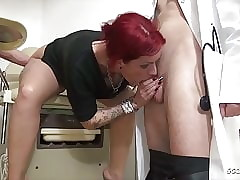 Teen Anica Overheated Oration 3some Lady-love at one's disposal Gynecologist - German
