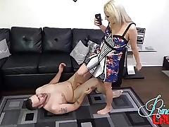 Roxie Rae Breakage His Slobber FEMDOM CFNM BALLBUSTING