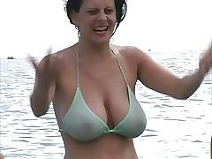 Hot Milf everywhere Bikini up ahead Run aground