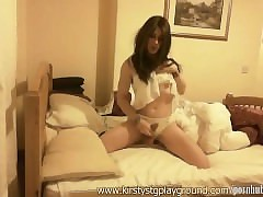 Frying crossdresser Kirsty wanks say no to heavy weasel words far mint blanched underclothes