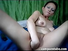 Offbeat milf heavy dildo fellow-feeling a amour more than cam