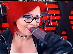 Matured Redhead On touching Glasses Sucking Dildo