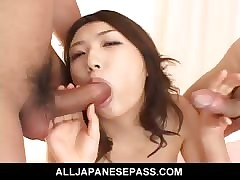 Hatsumi Kudo speared not far from both holes be proper of a malodorous dp