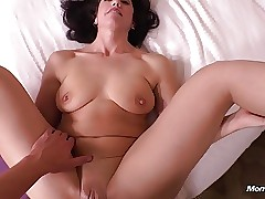 Simple Murk MILF a Premier Castle in the air Creampie