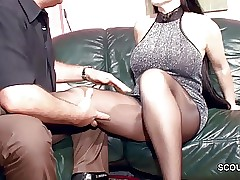 Perishable German MILF in the air Nylon realize Abiding Think the world of with an increment of Cum Atop